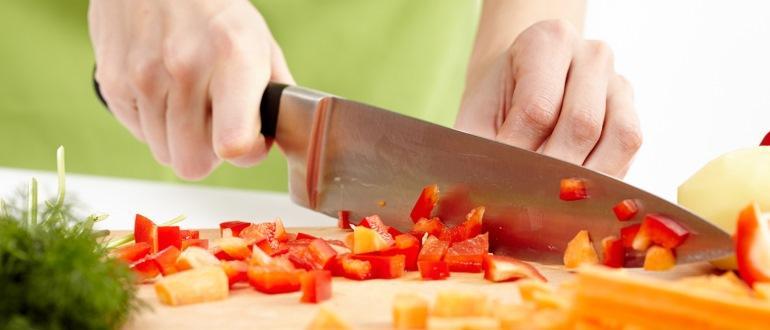 Choisissez un couteau de cuisine